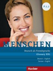 Menschen - Deutsch als Fremdsprache: Glossar XXL Deutsch-Englisch; A2/2