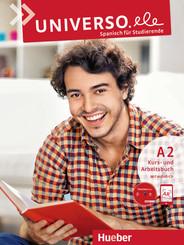 Universo.ele - Spanisch für Studierende: Kurs- und Arbeitsbuch, m. Audio-CD; A2