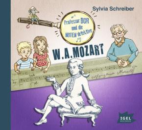 Professor Dur und die Notendetektive - W. A. Mozart, 1 Audio-CD