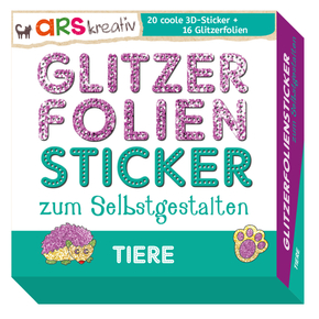 Glitzerfolien-Sticker zum Selbstgestalten - Tiere