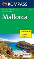 Kompass Karte Mallorca, 4 Bl.