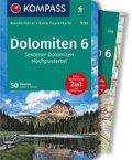 KOMPASS Wanderführer Dolomiten 6, Sextener Dolomiten, Hochpustertal, m. 1 Karte - Tl.6
