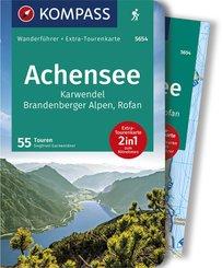 KOMPASS Wanderführer Achensee, Karwendel, Brandenberger Alpen, Rofan, m. 1 Karte