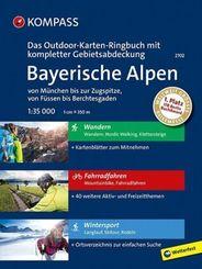 Kompass Outdoor-Karten Ringbuch Bayerische Alpen - von München bis zur Zugspitze, von Füssen bis Berchtesgaden
