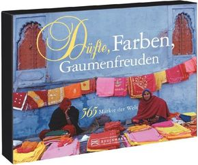 Tischaufsteller - Düfte, Farben, Gaumenfreuden 365 Märkte der Welt