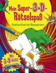 Punkterätsel mit Dinosauriern - Mein Super-3-D-Rätselspaß