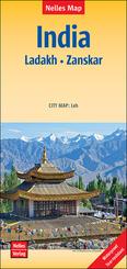 Nelles Map India - Ladakh, Zanskar, Polyart-Ausgabe
