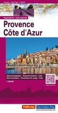 Hallwag Regionalkarte Provence, Côte d'Azur; Hallwag Carte régionale Provence, Côte d' Azur