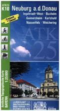 Amtliche Topographische Karte Bayern Neuburg a. d. Donau