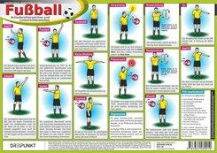 Fußball - Schiedsrichterzeichen und Linienrichterzeichen, Infotafel