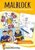 Malblock - Notarzt, Polizei und Feuerwehr