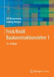 Frick/Knöll Baukonstruktionslehre - Bd.1