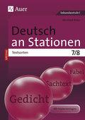 Deutsch an Stationen SPEZIAL - Textsorten 7-8