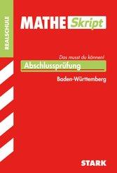 MATHE Skript, Abschlussprüfung Realschule Baden-Württemberg