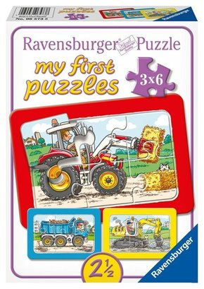 Bagger, Traktor und Kipplader (Rahmenpuzzle)