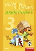 Denken und Rechnen, Ausgabe 2014 für Grundschulen in Bayern: 3. Jahrgangsstufe, Arbeitsheft mit CD-ROM