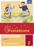 Pusteblume. Das Sprachbuch, Allgemeine Ausgabe 2015: 2. Schuljahr, Das Arbeitsheft Druckschrift