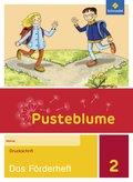 Pusteblume. Fördern und Fordern, Ausgabe 2015: 2. Schuljahr, Das Förderheft Druckschrift