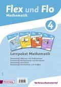 Flex und Flo, Ausgabe 2014: Lernpaket Mathematik 4: 4 Themenhefte (Verbrauchsmaterial)