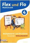 Flex und Flo, Ausgabe 2014: Multiplizieren und Dividieren (Verbrauchsmaterial) - Themenheft.4