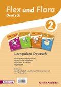 Flex und Flora - Deutsch: Lernpaket Deutsch 2 (Für die Ausleihe), 4 Hefte