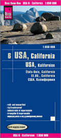 Reise Know-How Landkarte USA 6, Kalifornien (1:850.000); USA, California; États-Unis, Calofornie. EE.UU., California