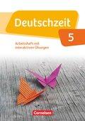 Deutschzeit, Allgemeine Ausgabe: 5. Schuljahr, Arbeitsheft mit interaktiven Übungen