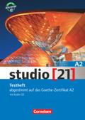 studio [21] - Das Deutschbuch: Testheft mit Audio-CD, Gesamtband; Bd.A2