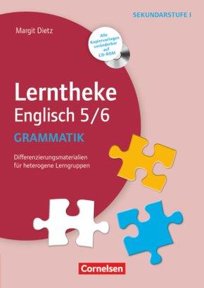 Lerntheke Englisch 5/6: Grammatik, m. CD-ROM