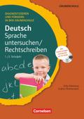Deutsch Sprache untersuchen/Rechtschreiben, 1./2. Schuljahr. m. CD-ROM