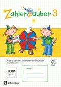 Zahlenzauber, Ausgabe Bayern 2014: 3. Jahrgangsstufe, Arbeitsheft mit CD-ROM