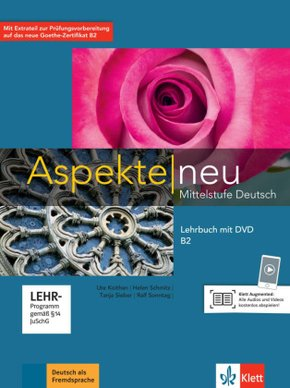 Aspekte neu - Mittelstufe Deutsch: Lehrbuch B2, m. DVD-ROM