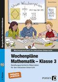 Wochenpläne Mathematik - Klasse 3, m. CD-ROM