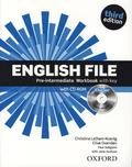 English File, Pre-Intermediate, Third Edition: Workbook with key and CD-ROM iChecker