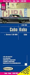 Reise Know-How Landkarte Kuba / Cuba (1:650.000) mit Havanna (1:50.000)