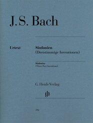 Sinfonien (Dreistimmige Inventionen), für Klavier zu 2 Händen