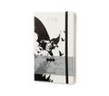 Moleskine Notizbuch Batman L/A5, Liniert, Hard Cover, Weiß
