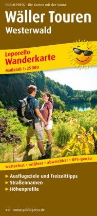 PublicPress Leporello Wanderkarte Wäller Touren Westerwald