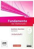Fundamente der Mathematik, Gymnasium Nordrhein-Westfalen: 9. Schuljahr, Arbeitsheft mit CD-ROM