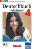 Deutschbuch, Gymnasium Baden-Württemberg, Neubearbeitung: 8. Schuljahr, Arbeitsheft mit Übungs-CD-ROM; Bd.4