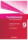 Fundamente der Mathematik, Gymnasium Nordrhein-Westfalen: 9. Schuljahr, Lösungen zum Schülerbuch