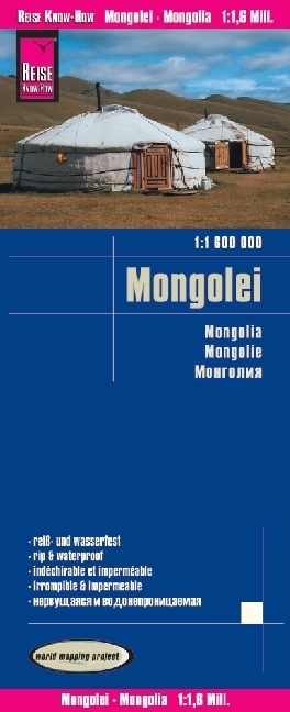Reise Know-How Landkarte Mongolei (1:1.600.000); Mongolia / Mongolie