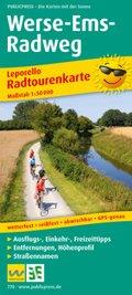 PublicPress Leporello Radtourenkarte Werse-Ems-Radweg