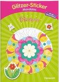 Glitzer-Sticker-Mandalas Blumen. Malbuch ab 5 Jahren