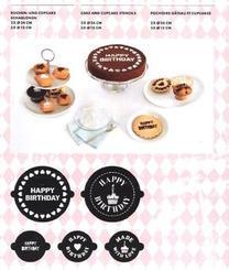 Kuchen- und Cupcake-Schablonen