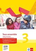 Tous Ensemble. Ausgabe ab 2013: Cahier d'activités mit MP3-CD und Vokabeltrainer; Bd.3