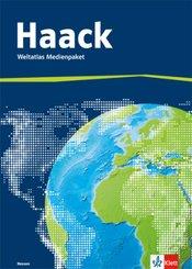Haack Weltatlas, Ausgabe Hessen: Weltatlas Medienpaket, Arbeitsheft Kartenlesen mit Atlasführerschein + CD-ROM