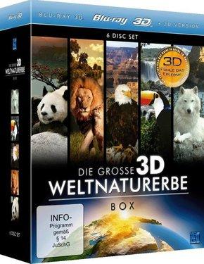 Die große 3D Weltnaturerbe Box, 6 Blu-rays