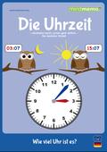 mindmemo Lernfolder - Die Uhrzeit - Grundschule