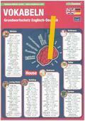 mindmemo Lernfolder - Grundwortschatz Englisch / Deutsch - 1100 Vokabeln - Lernhilfe